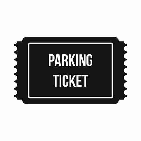 Icône de ticket de parking dans un style simple isolé sur fond blanc