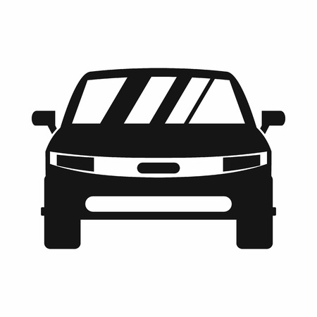 driving conditions: Car icon in simple style isolated on white background Illustration