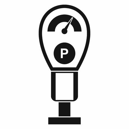 Parkeren meter pictogram in eenvoudige stijl geïsoleerd op een witte achtergrond