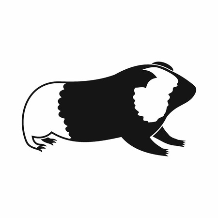 gnawer: Hamster icon in simple style isolated on white background