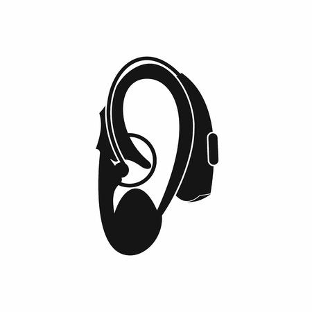Audition icône d'aide dans un style simple isolé sur fond blanc Banque d'images - 57678814
