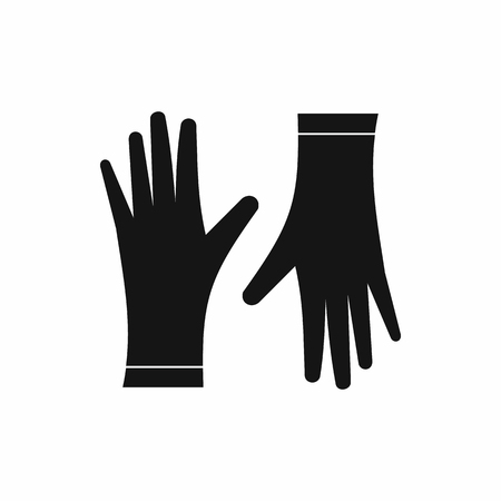 protective gloves: Protective gloves icon in simple style isolated on white background Illustration