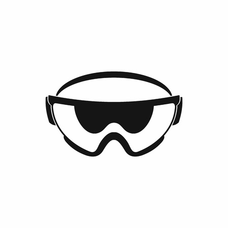 protective eyewear: Safety glasses icon in simple style isolated on white background