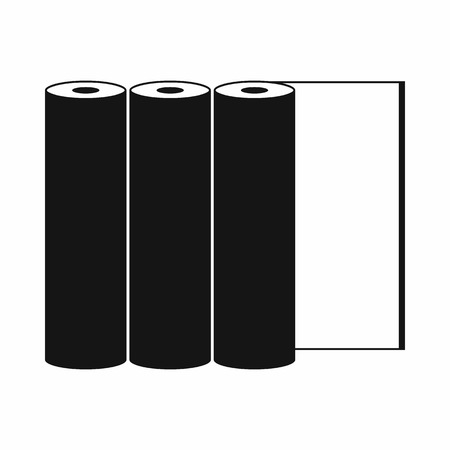 prepress: Rolls of paper icon in simple style on a green background