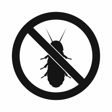 termite: No termite sign icon in simple style isolated on white background Illustration
