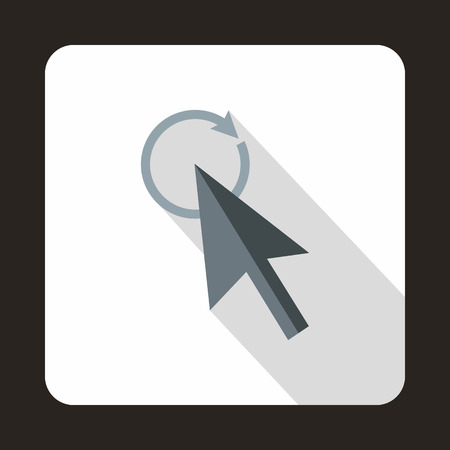 replacement: Replacement cursor icon in flat style with long shadow. Computer and internet symbol Illustration