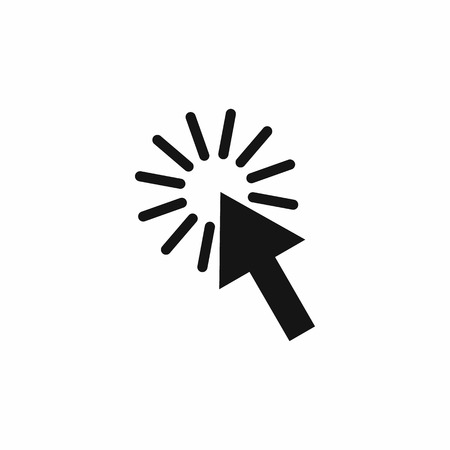 click the icon: Click icon in simple style isolated on white background