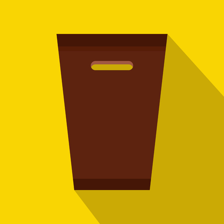sanitation: Dustbin icon in flat style with long shadow. Waste and sanitation symbol Illustration
