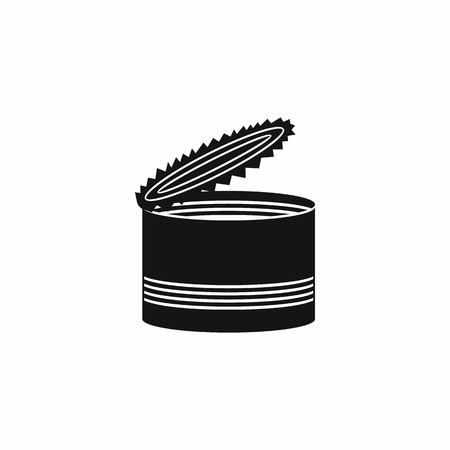 tinned: Open tin can icon in simple style isolated on white background
