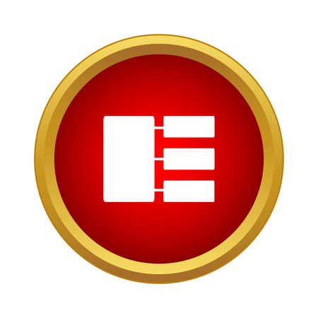 jerarquia: icono de la jerarquía de forma sencilla aislado en el fondo blanco Vectores