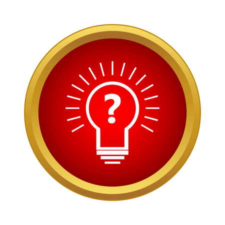interrogative: Hypothesis icon in simple style isolated on white background