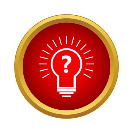 hipotesis: icono de hipótesis en un estilo sencillo aislado en el fondo blanco