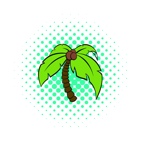 Palm tree icon in pop-art style for any design Ilustracje wektorowe