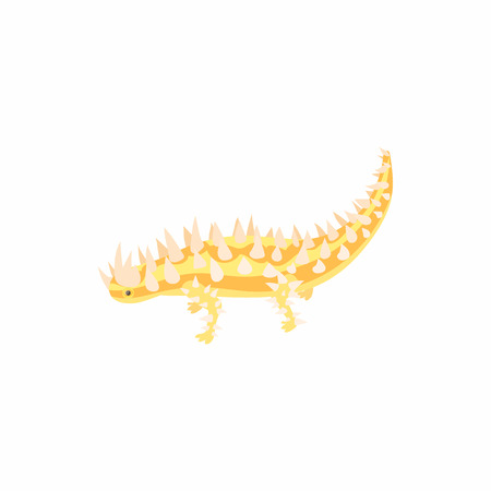 Lizard icon in cartoon style isolated on white background