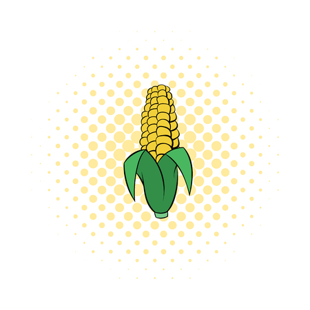corncob: Corncob icon in comics style on a white background Illustration