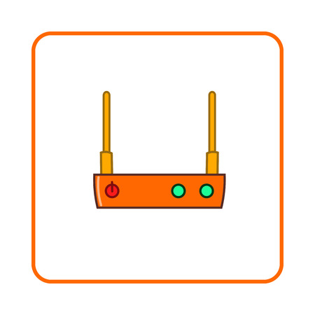 modem: Modem icon in simple style on white background. Device symbol Illustration
