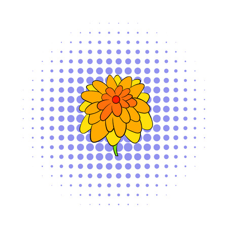 calendula: Calendula flower icon in comics style isolated on white background