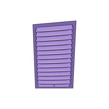 roller shutters: Shutter door or roller door icon in cartoon style on a white background