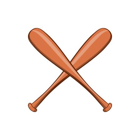 baseball swing: Baseball bat icon in cartoon style isolated on white background. Sport symbol Illustration