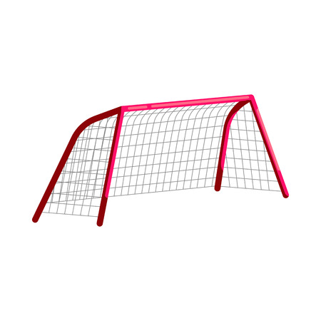 Soccer goal icon in cartoon style on a white background