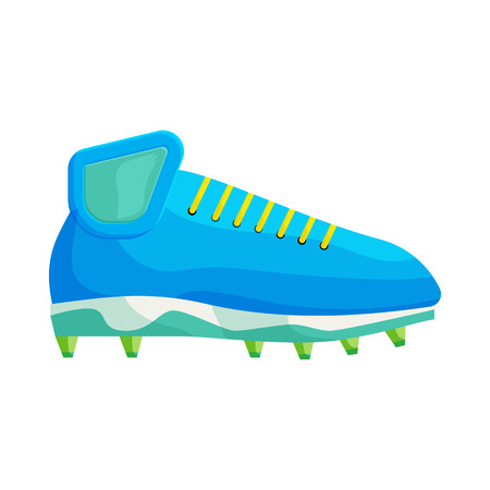 football shoe: Football or soccer shoe icon in cartoon style on a white background Illustration