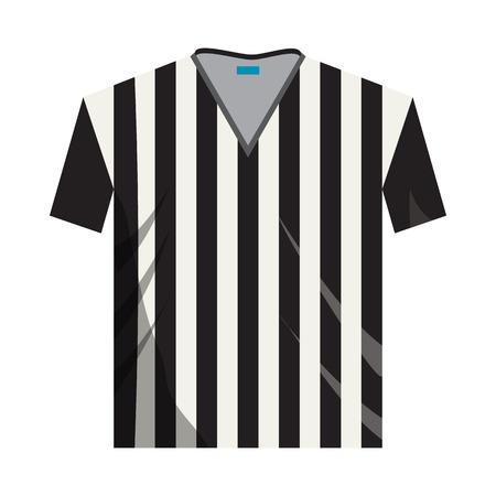 icono de la camisa del árbitro en el estilo de dibujos animados sobre un fondo blanco Ilustración de vector