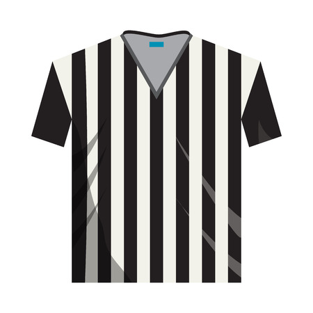 Referee shirt icon in cartoon style on a white background Vetores