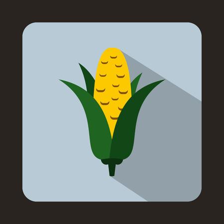 corncob: Corncob icon in flat style on a light blue background Illustration