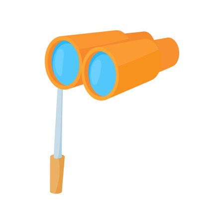 antic: Theatrical binocular icon in cartoon style on a white background