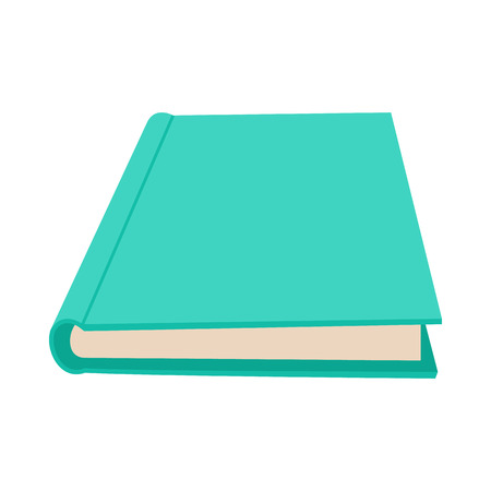 closed book: Closed book icon in cartoon style on a white background