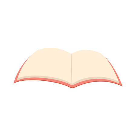 opened book: Blank opened book icon in cartoon style on a white background Illustration