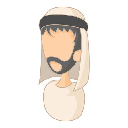 costume cartoon: Arab man icon in cartoon style on a white background