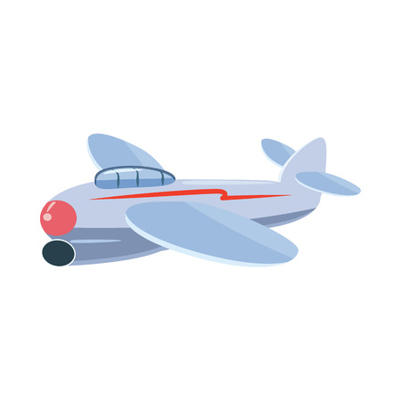 small plane: Small plane icon in cartoon style isolated on white background. Aircraft symbol
