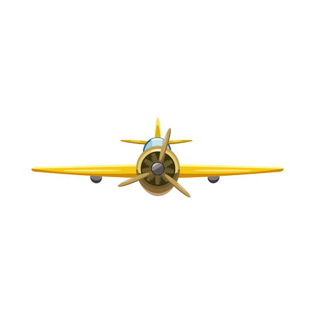 Airplane rear view icon in cartoon style isolated on white background. Aircraft symbol