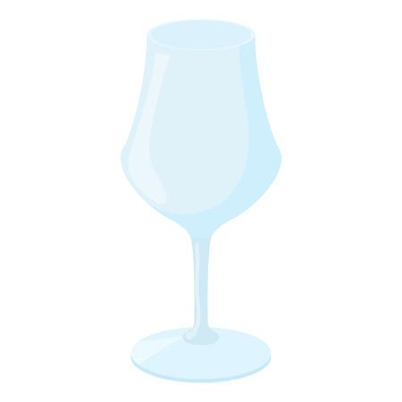 sektglas: Weinglas-Symbol in Cartoon-Stil auf einem weißen Hintergrund