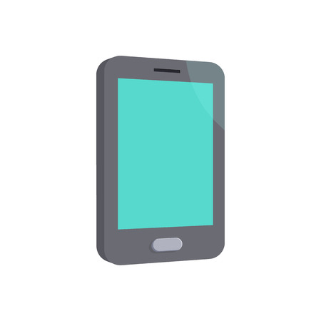 android tablet: Modern smartphone icon in cartoon style on a white background Illustration
