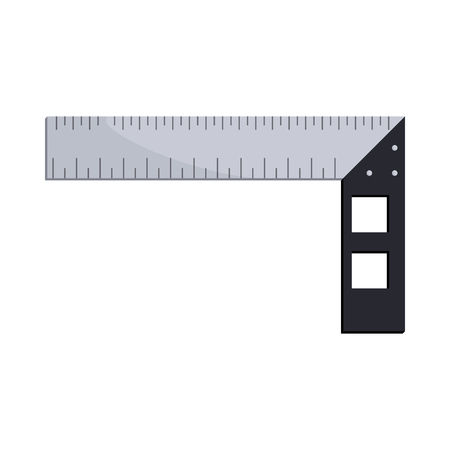 cartoon carpenter: Construction square triangle icon in cartoon style on a white background Illustration