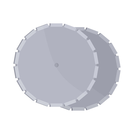 saw blade: Circular saw blade icon in cartoon style on a white background Illustration