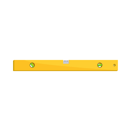 spirit level: Level measurement icon in cartoon style on a white background