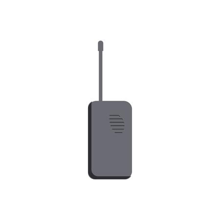 cb radio: Radio transceiver icon in cartoon style on a white background
