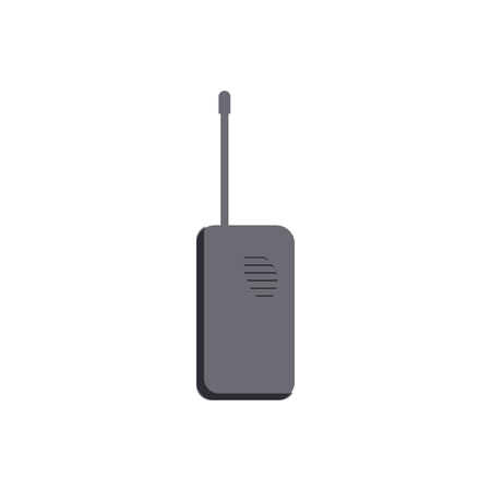 Radio transceiver icon in cartoon style on a white background