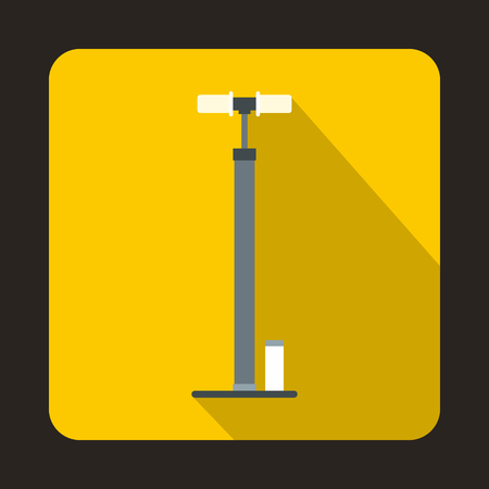 one wheel bike: Bicycle pump icon in flat style with long shadow. Device symbol