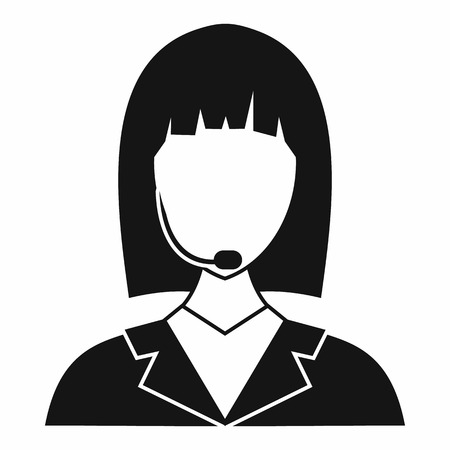 Manager taxi pictogram in eenvoudige stijl geïsoleerd op een witte achtergrond