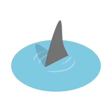 ichthyology: Shark in the sea icon in isometric 3d style on a white background