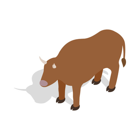 Switzerland cow icon in isometric 3d style on a white background Illustration