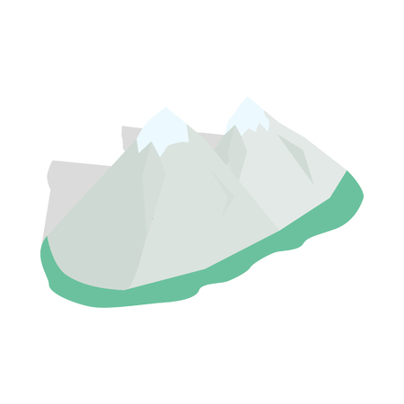 swiss alps: Swiss alps icon in isometric 3d style on a white background