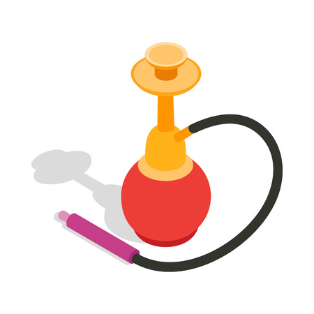 middle joint: Hookah icon in isometric 3d style on a white background