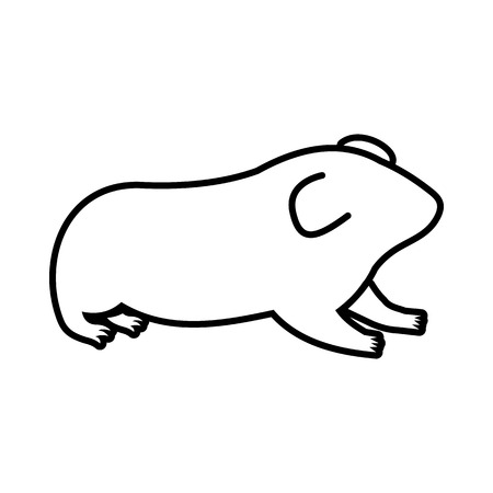 sneaky: Hamster icon in outline style isolated on white background Illustration