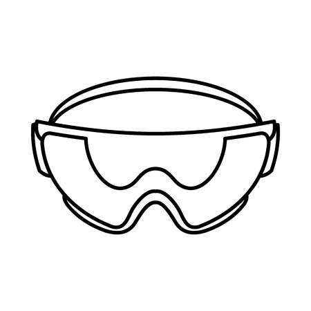 safety glasses: Safety glasses icon in outline style isolated on white background