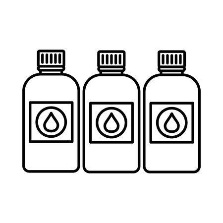 printer ink: Printer ink bottles icon in outline style isolated on white background